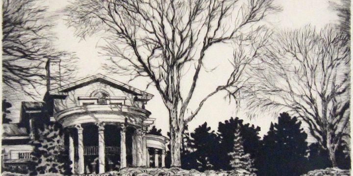 Lyman Byxbe, Arbor Lodge, etching, n.d.