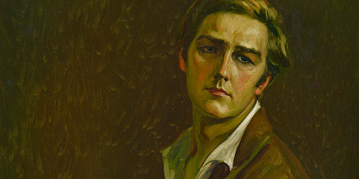 Paul Swan, Self Portrait, oil on canvas, c 1920