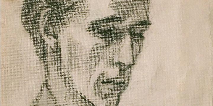 aul Swan, Untitled (Forrest Frazier), graphite, c. 1948