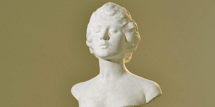 Paul Swan, Jeanne Robert Foster, plaster, 1917