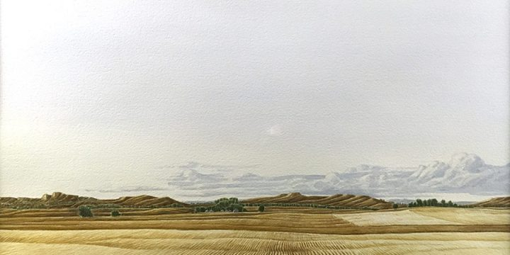 Anne Burkholder, Horizon 498: Evening Near Crawford, Sioux County (Nebraska), watercolor, c. 1980s