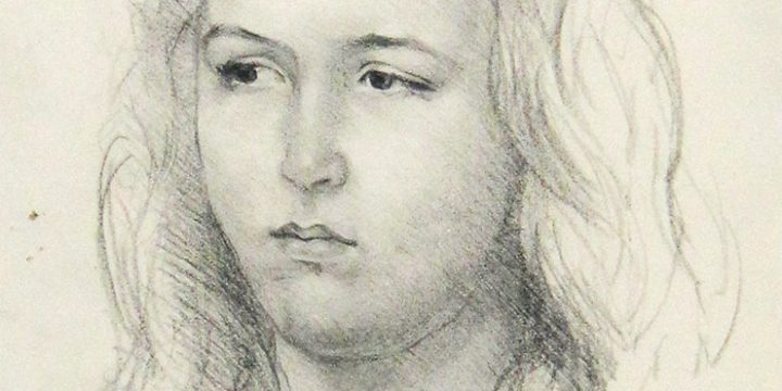 Eulabee Dix, Portrait of a Girl, graphite, n.d.