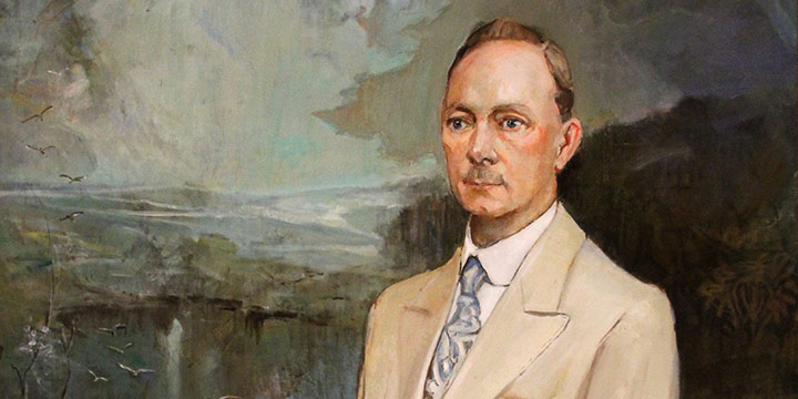 "Elizabeth Honor Dolan, Dr. David C. Hilton, oil on canvas, c. 1935, 42¼ × 40½"""