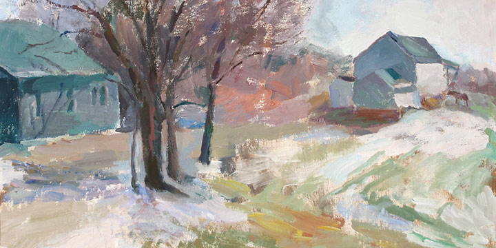 Gay Davies, March Thaw, oil on board, n.d.