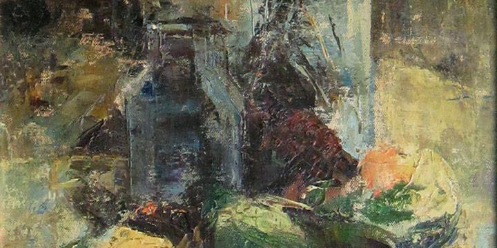 Julia Clarke, Untitled (milkweed), oil on canvas, n.d.
