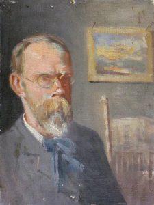 Robert F. Gilder, Self-Portrait, oil on canvas, n.d.
