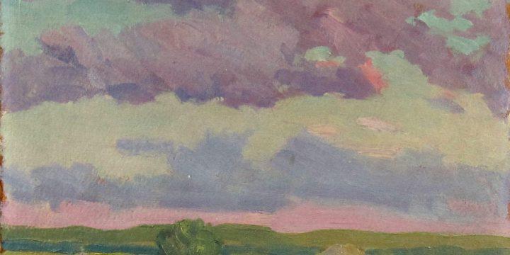 Robert F. Gilder, Lavender Clouds, oil on board, n.d.