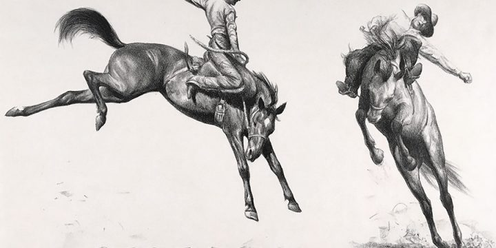 C.W. Anderson, Rodeo Sketches, lithograph, n.d. NA