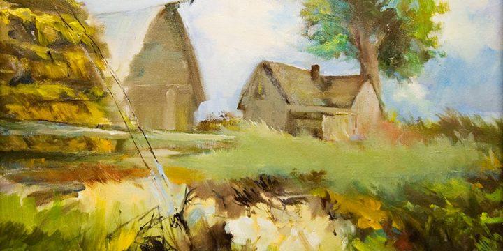Joy DeKlotz, Hay Day, oil on canvas, n.d.