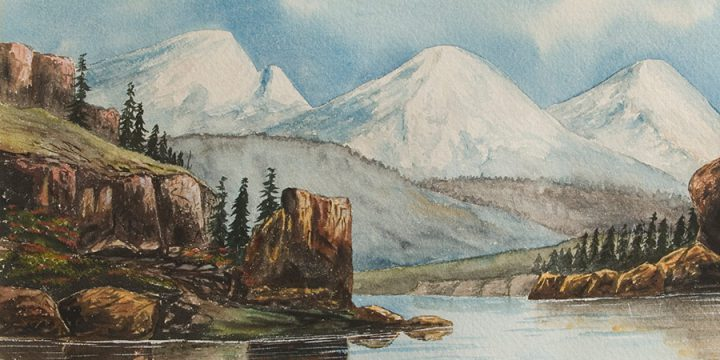 Miles Maryott, Mountain Landscape, watercolor, 1908
