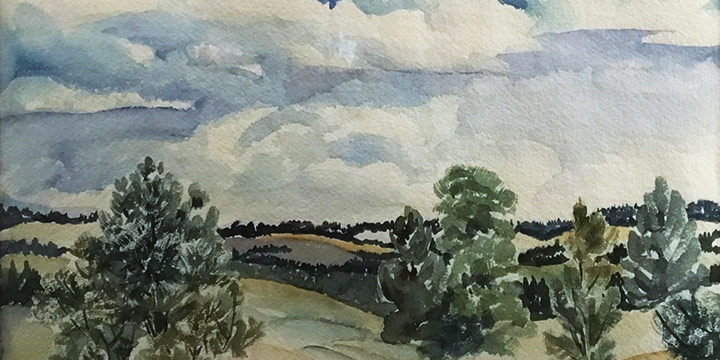 Gladys M. Lux, Chadron State Park, watercolor
