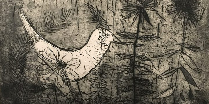 William Lyberis, Bird Caught in a Thicket, print (6/10), 1953