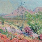 Robert F. Gilder, Some Desert Vegetation, Tuscon, oil, n.d.