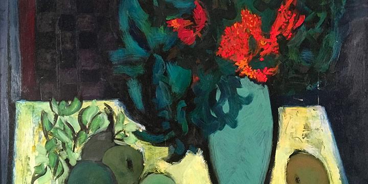 William Lyberis, Untitled (still life), oil, 1955