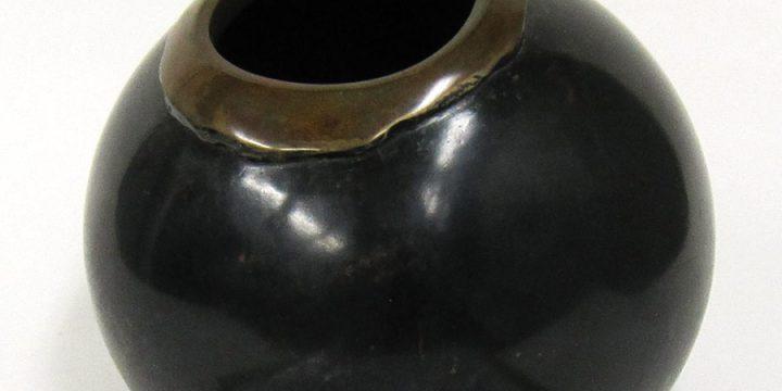 Clarke Jensen, Pod Form, bronze, 1984
