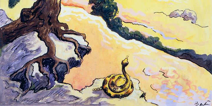 Thomas Hart Benton, The Rattler, watercolor, 1945