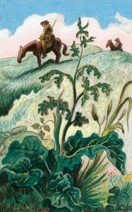 Thomas Hart Benton, Scouts, gouache, ink, 1945
