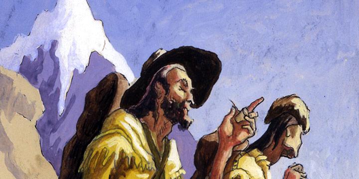 Thomas Hart Benton, The Mountain Men, Watercolor, 1995