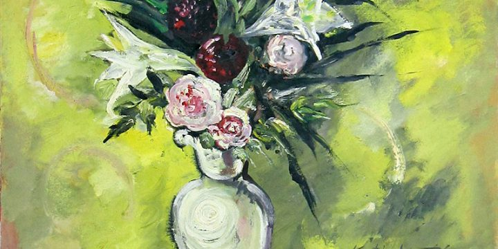 Keith Martin, Floral, oil on canvas, 1947