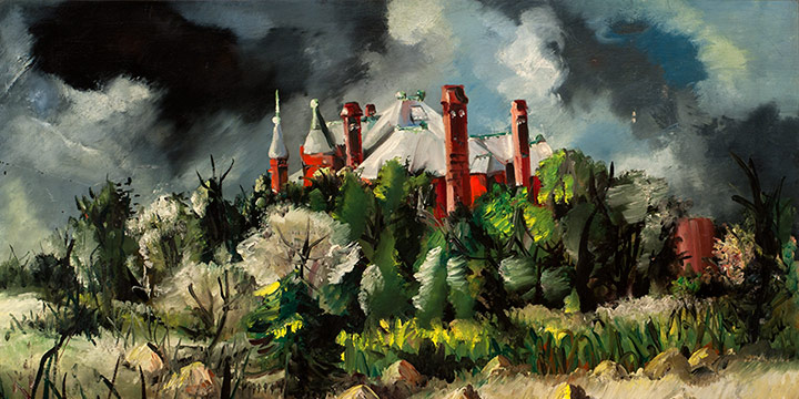 Keith Martin, Bishop's Palace, oil on linen, 1946