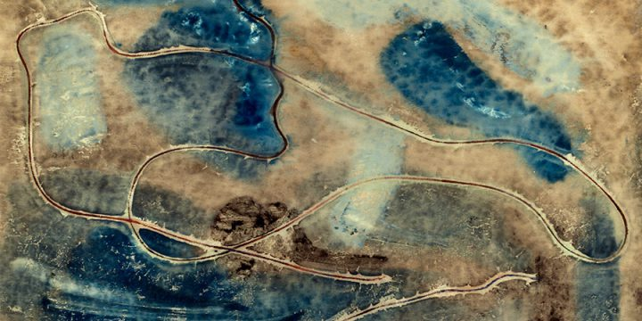 Dwight Kirsch, Playing With Turquoise, watercolor, n.d.