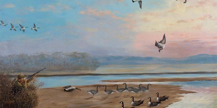 Miles Maryott, Goose Hunter, oil on canvas, 1928