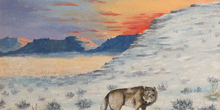 Miles Maryott, Lone Wolf, oil on canvas, 1930