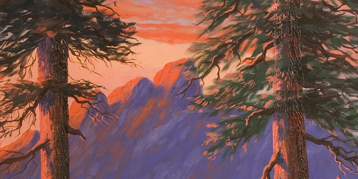 Miles Maryott, Mountain Sunset, oil on canvas, 1931
