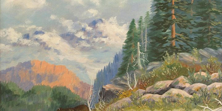 Miles Maryott, Lone Cougar, oil on canvas, 1934
