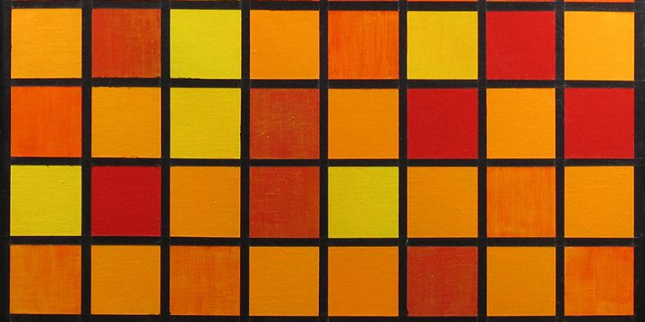 Kathy S. Larson, Untitled (blocks of color), acrylic, 1976
