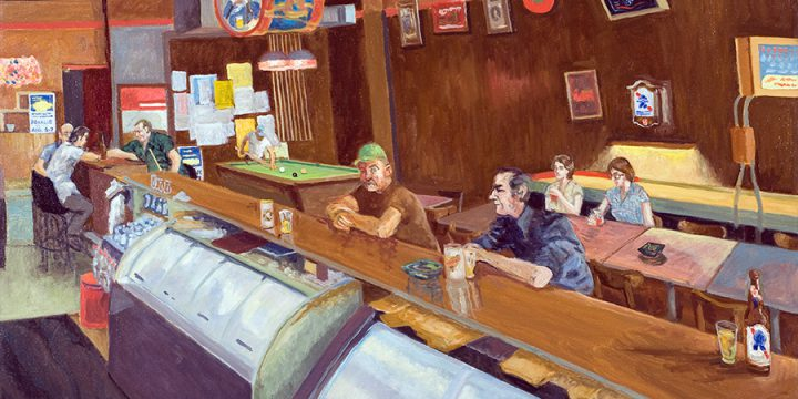 Myron R. Heise, Larry's Bar, oil on canvas, 1984