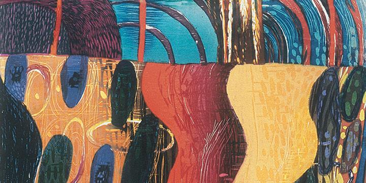 Karen Kunc, Dagger Plume, woodcut (2/20), 1991