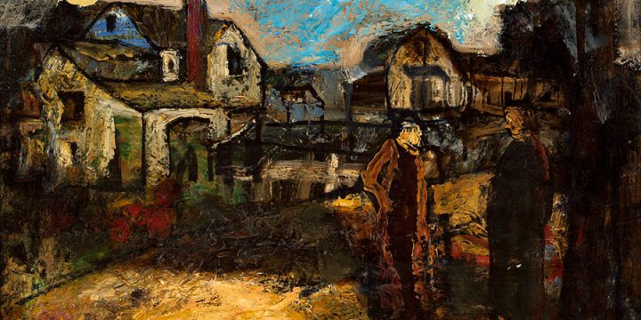 Charles Logasa, Neighbors, oil on linen, n.d.