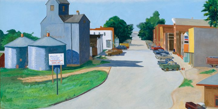 Myron R. Heise, Main Street, Bancroft, Nebraska, oil on canvas, 1984
