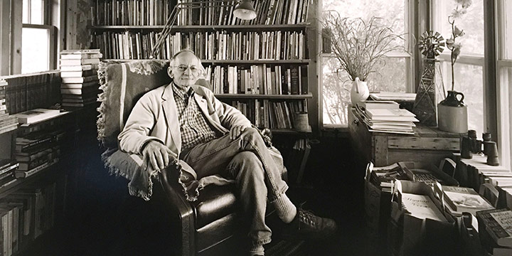 Charles W. Guildner, Ted Kooser, Poet Laureate Consultant in Poetry -  Library of Congress - 2004, 2005, black & white photograph (15/40), 2005