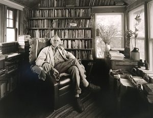 Charles Guildner, Ted Kooser, Poet Laureate Consultant in Poetry - Library of Congress - 2004, 2005, black & white photograph (15/40), 2005