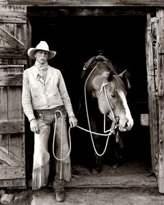 Charles W. Guildner, Lives of Tradition Vol. I, Portraits - Mick Goettle, silver print (5/20), 2004