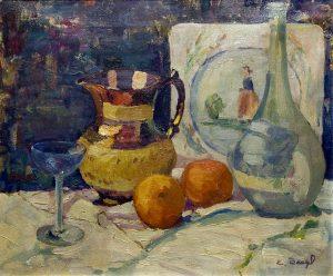 Emma M. Baegl, Still Life, oil on linen, n.d.
