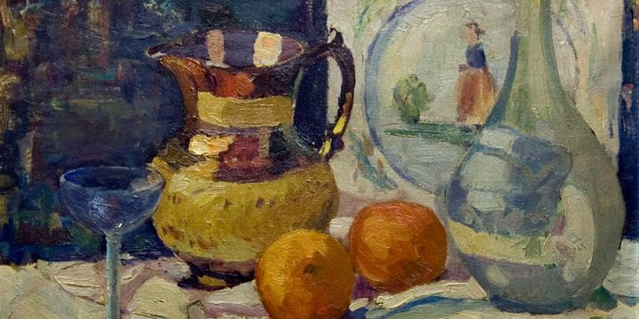 Emma M. Baegl, Still Life, oil on linen, n.d.
