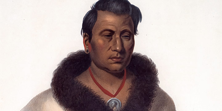 Charles Bird King, An-Pan-Tan-Go, The Big Elk, A Maha Chief, handcolored lithograph, 1841