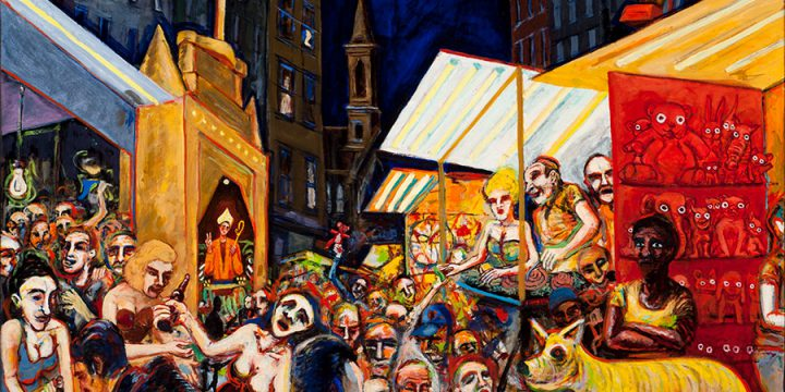 Myron R. Heise, San Gennaro Festival, oil on canvas, 1990