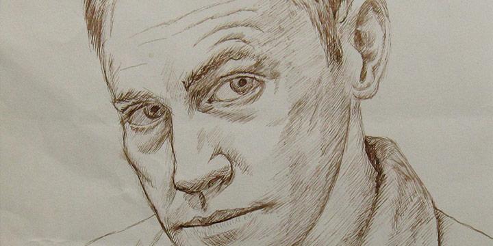 Myron R. Heise, Self-Portrait, December 18, 1964, ink
