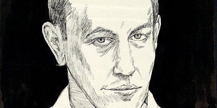 Myron R. Heise, Myron R. Heise, Self-Portrait, April 16, 1967,  ink