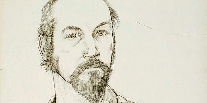 Myron R. Heise, Self-Portrait, 1970, ink