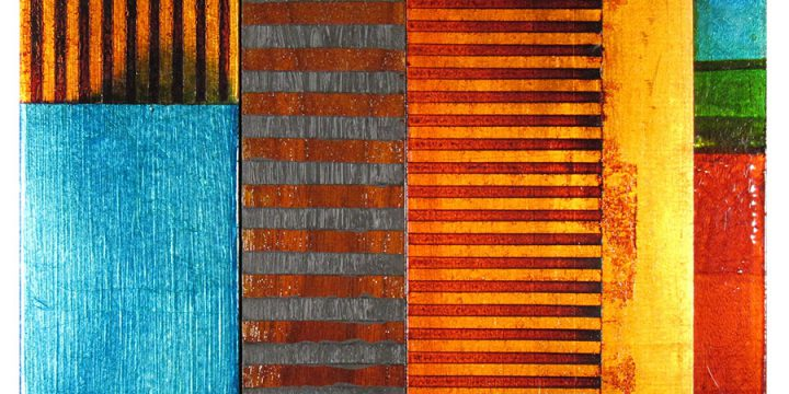 Steve Joy, Tuareg, acrylic, gold leaf, Japanese ink, oil, wax on panel, 2010