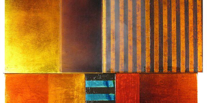 Steve Joy, Dune, acrylic, gold leaf, Japanese ink, oil, wax on panel, 2010