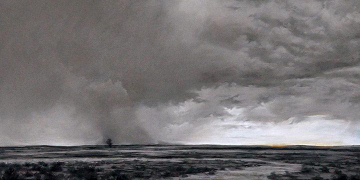 Jennifer Homan, Arid Skies, pastel, 2014