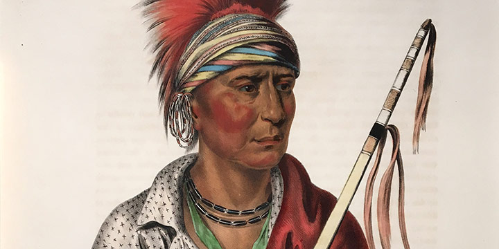 Charles Bird King, Not-Chi-Mi-Ne, an Ioway Chief (Notchimine, No Heart), llithograph, 1836 or 1838