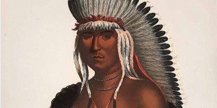 Charles Bird King, Petalesharro, A Pawnee Brave, handcolored lithograph (octavo), c. 1836-1844