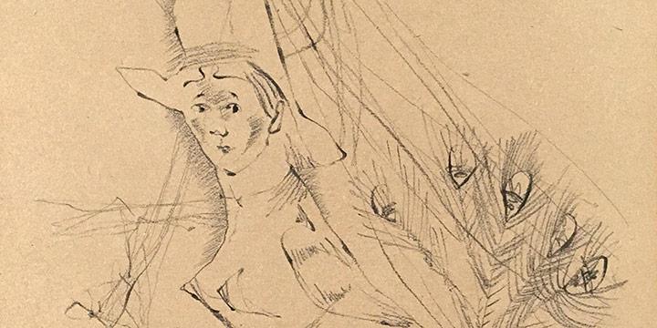 Keith Martin, Juno, crayon on paper, 1947